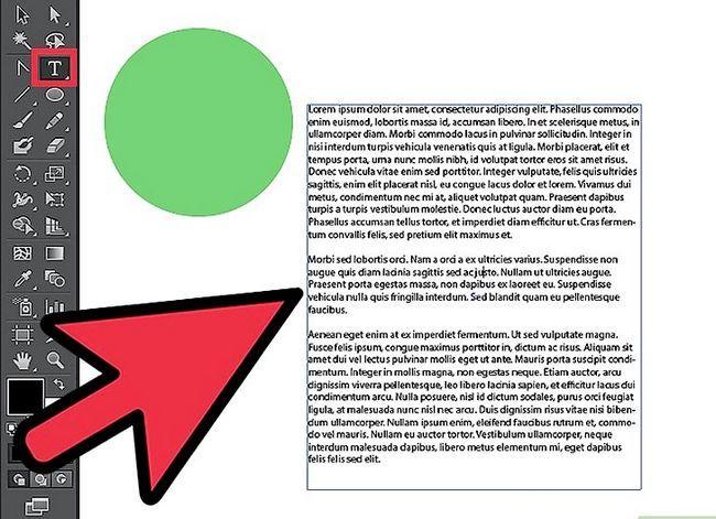 Prent getiteld Wrap Text in Adobe Illustrator Step 2