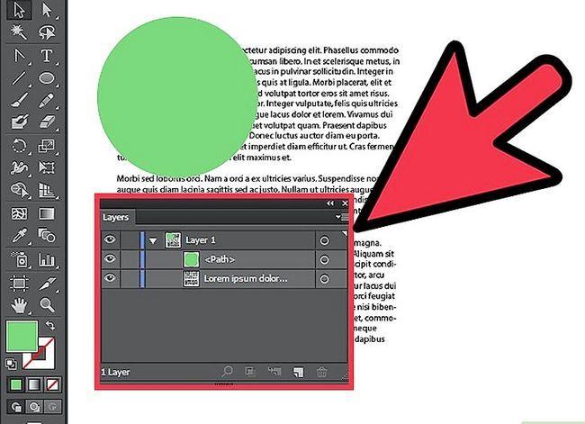 Prent getiteld Wrap teks in Adobe Illustrator Stap 3