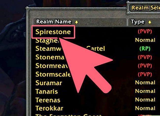 Prent getiteld Kies die Perfect Server_Realm vir World of Warcraft met Realm Pop Step 12