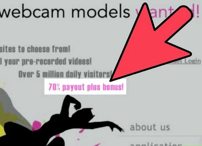 Prent getiteld Kies `n webwerf vir Webcam Model vir stap 2