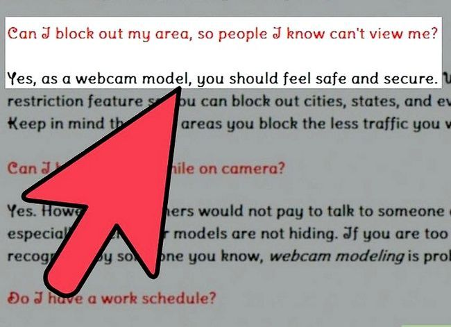 Prent getiteld Kies `n webwerf vir Webcam Model vir stap 5