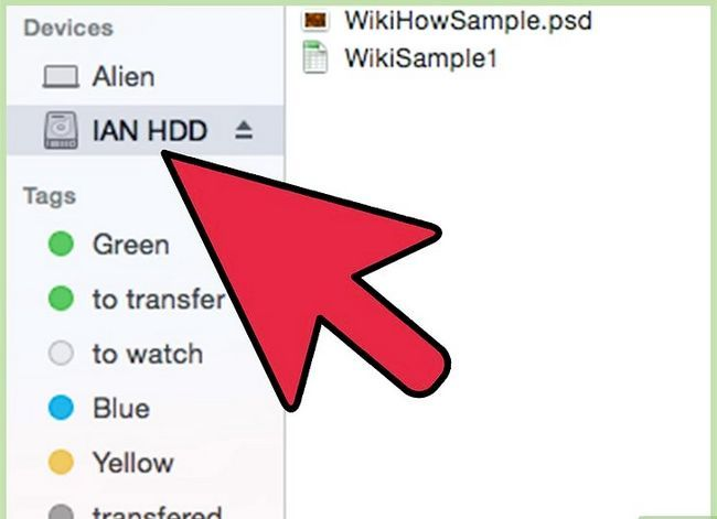 Prent Titel Skryf `n eksterne hardeskyf op Mac OS X Stap 1