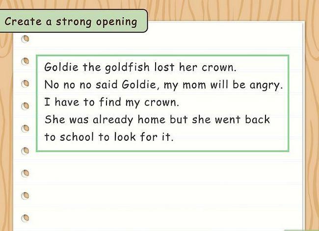 Prent getiteld Skryf `n Kinders`s Story Step 7