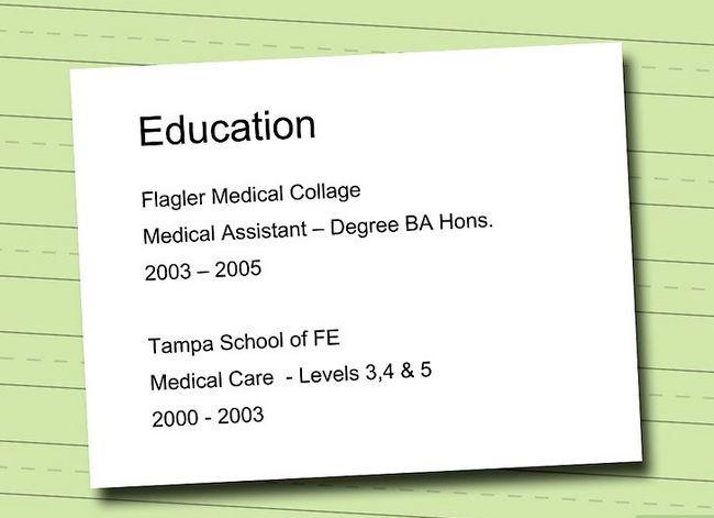 Prent getiteld Skryf `n CV vir `n Mediese Assistent Job Stap 8