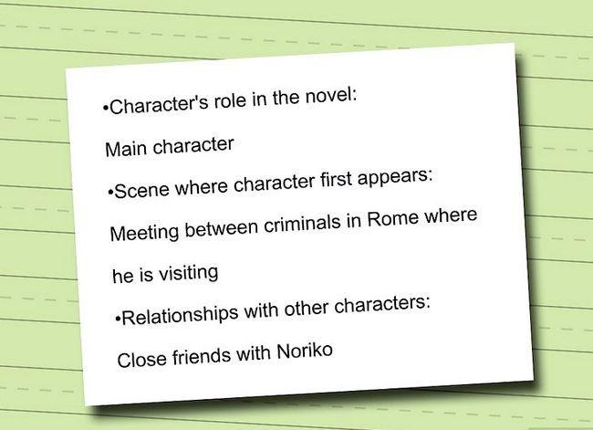 Prent getiteld Skryf karakters profiele vir Anime karakters Stap 7
