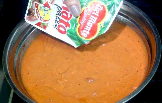 Prent getiteld Thicken Spaghetti Sous Stap 2
