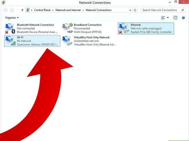Prent getiteld Gebruik `n verbinding op Windows 8 Stap 3