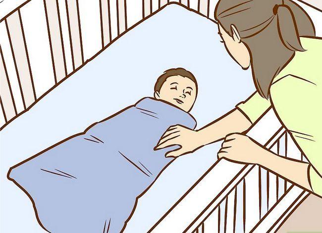 Prent getiteld Crib Train a Baby Stap 9