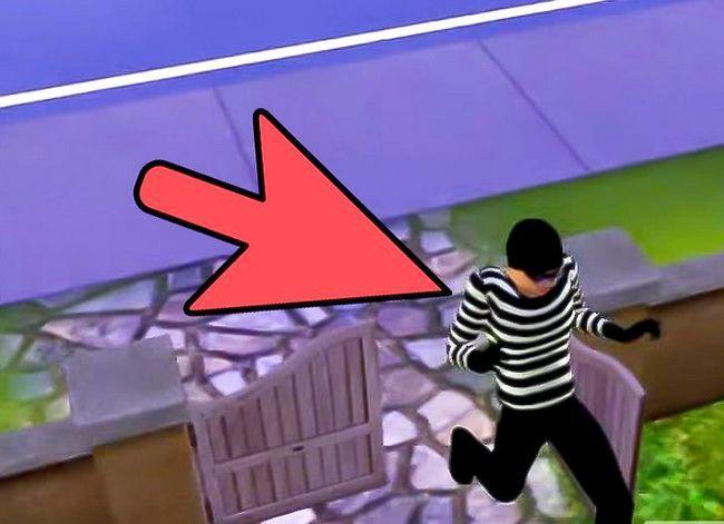 Prent getiteld Verhoed Robber Van Stal Jou Besittings op Sims 3 Stap 3