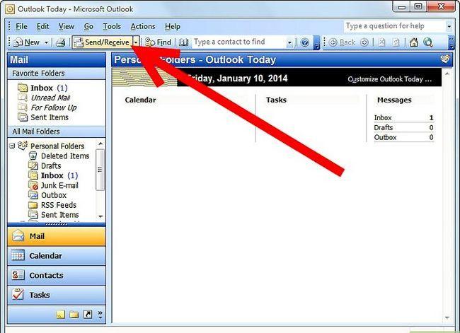 Prent getiteld Kry Thunderbird-e-posboodskappe in Outlook Stap 4