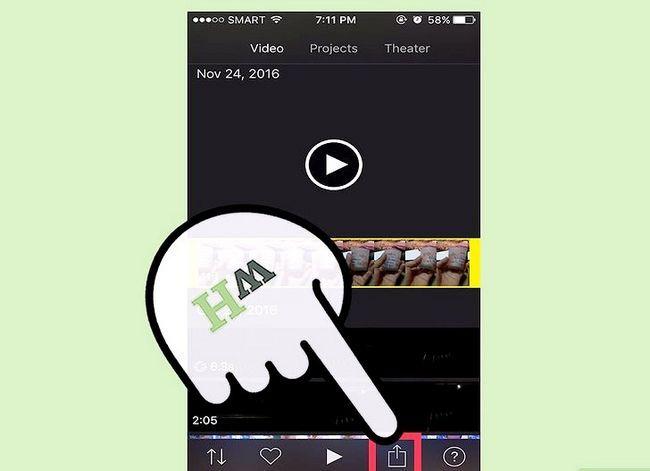 Prent getiteld `n iMovie-video uitvoer in HD Stap 19