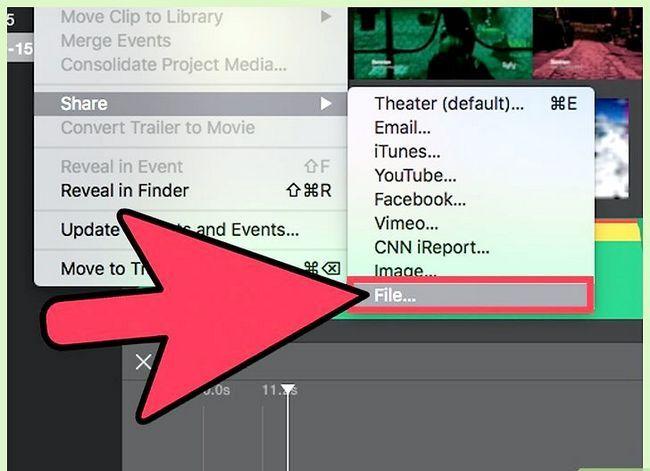 Prent getiteld Voer `n iMovie-video uit in HD Stap 5