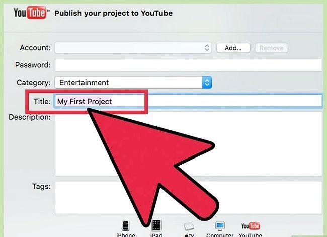 Prent getiteld `n iMovie-video uitvoer in HD Stap 6