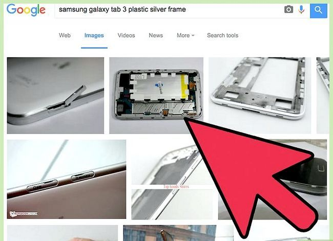 Prent getiteld Neem die battery uit `n Samsung Galaxy Tablet Stap 9