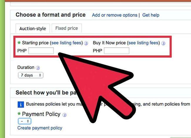 Prent getiteld Bepaal wat u eBay-items moet prys Stap 4