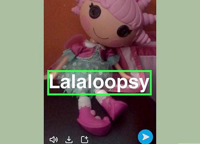Prent getiteld Pin-teks na Snapchat-video`s Stap 9