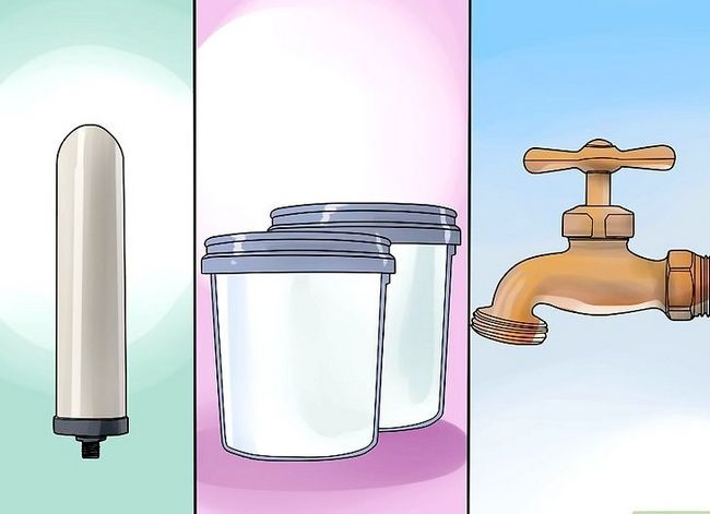 Prent getiteld Filter Water Stap 23
