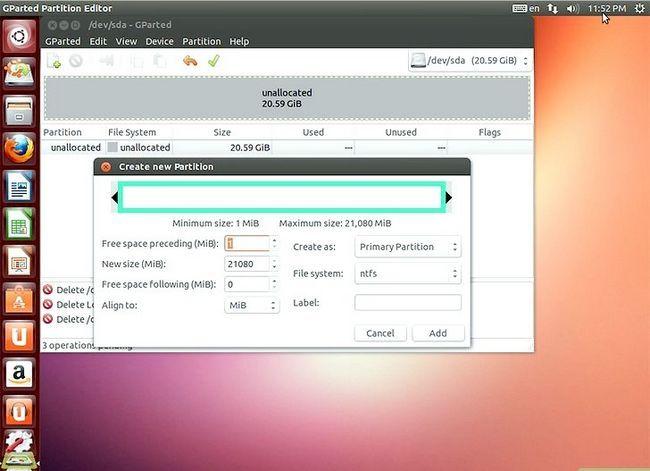 Beeld getiteld Formateer `n Linux-hardeskyf na Windows Stap 11