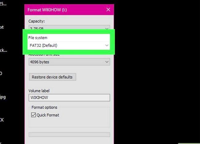 Beeld getiteld Formateer `n eksterne hardeskyf Stap 8