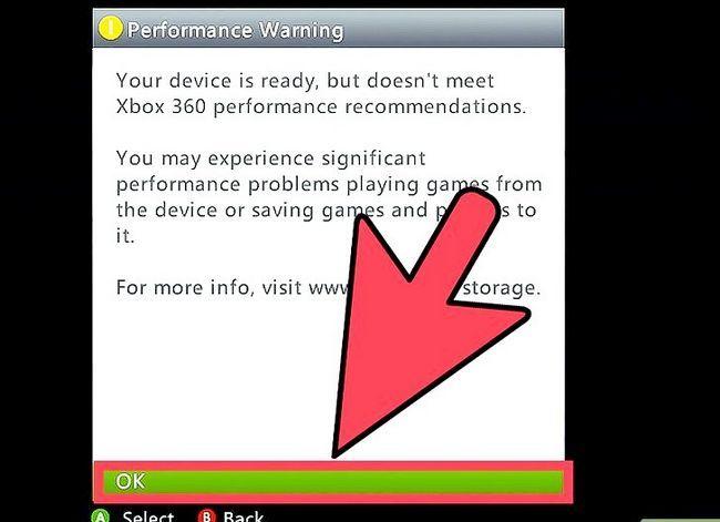 Beeld getiteld Formateer `n hardeskyf vir gebruik met Xbox 360 Stap 9