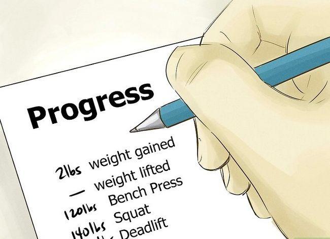 Prent getiteld Verkry meer spiermassa en sterkte Stap 1