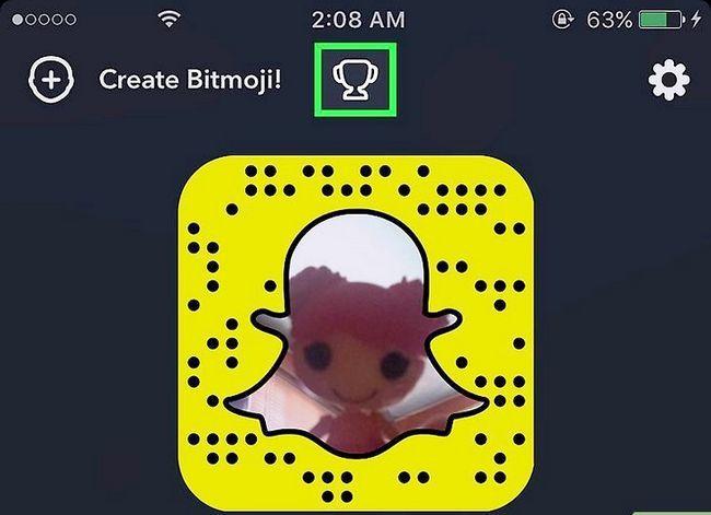 Prentjie getiteld Verdien Snapchat Trophies Stap 2