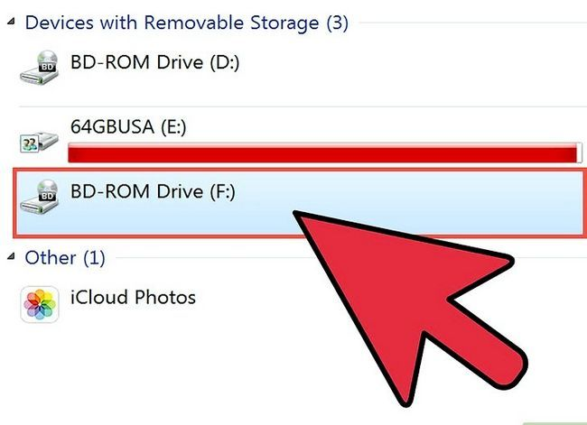 Beeld getiteld Brande lêers na `n CD in Windows XP Stap 1