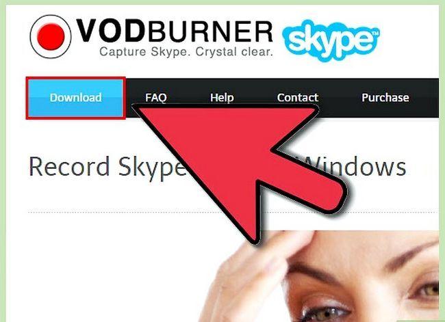 Prent getiteld Rekord Skype-oproepe Stap 1