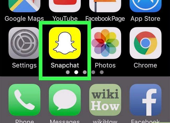 Prent getiteld Teken Video Hands Free op Snapchat Stap 11