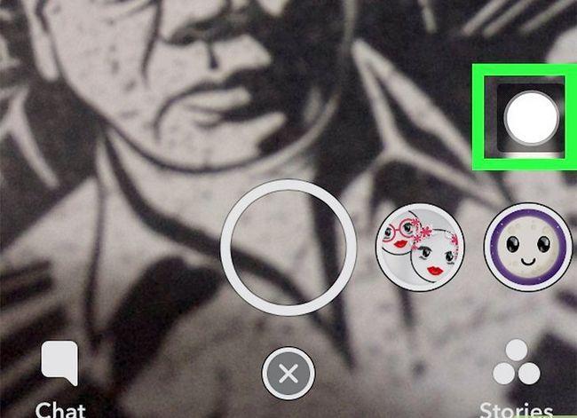 Prent getiteld opname video handsfree op Snapchat Stap 12