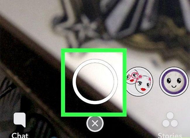 Prent getiteld opname video handsfree op Snapchat Stap 15