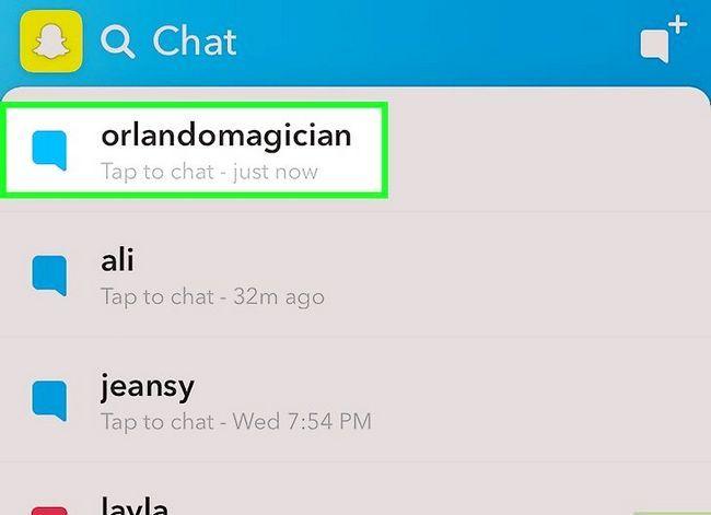 Beeld getiteld Stoor Snapchat-gesprekke Stap 8