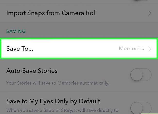 Beeld getiteld Stoor Snapchats na die Camera Roll Stap 5
