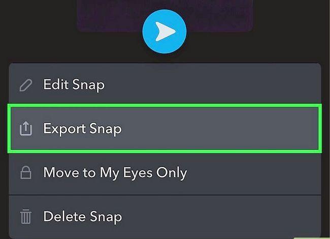 Prent getiteld Memories opslaan na die kamera rol op Snapchat Stap 4