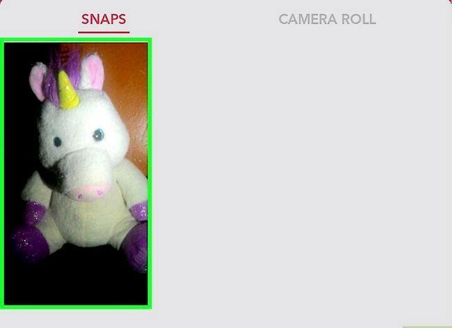 Prent getiteld Memories opslaan na die kamera rol op Snapchat Stap 8