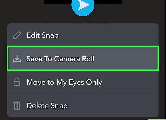 Prent getiteld Memories opslaan na die kamera rol op Snapchat Stap 9