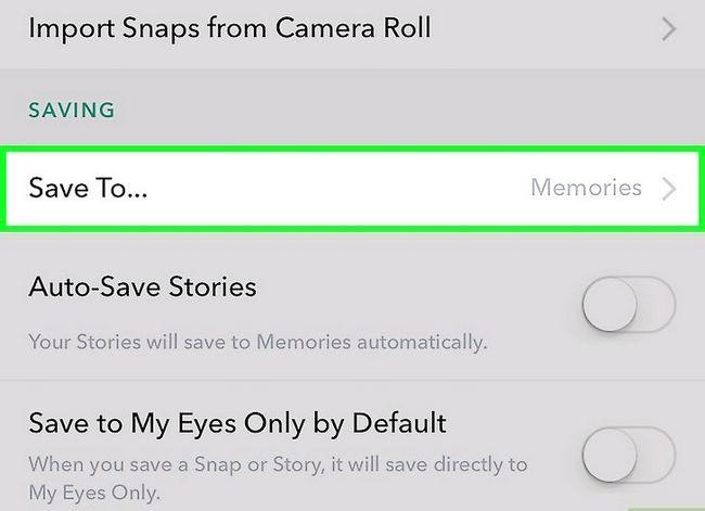 Beeld getiteld Stoor video op Snapchat Stap 13