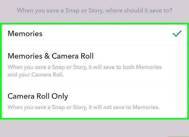 Beeld getiteld Stoor video op Snapchat Stap 14