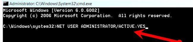 Prent getiteld Aktiveer die ware administrateur rekening in Vista Stap 4