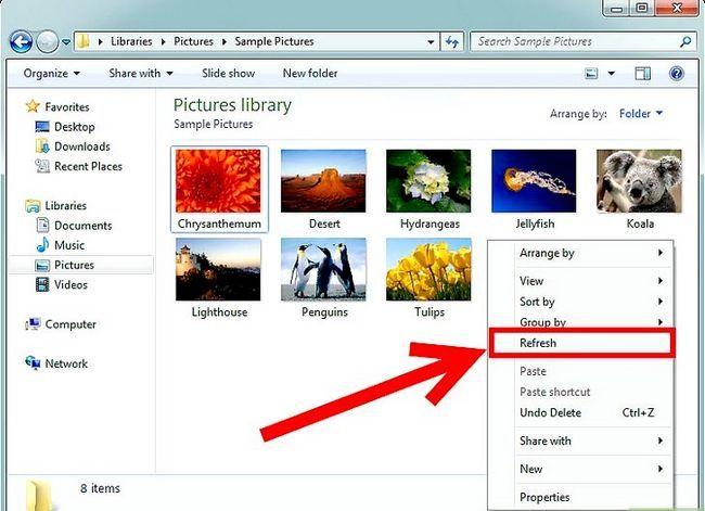Prent getiteld Miniatuurweergawe aanskakel vir prente in Windows 7 Stap 3