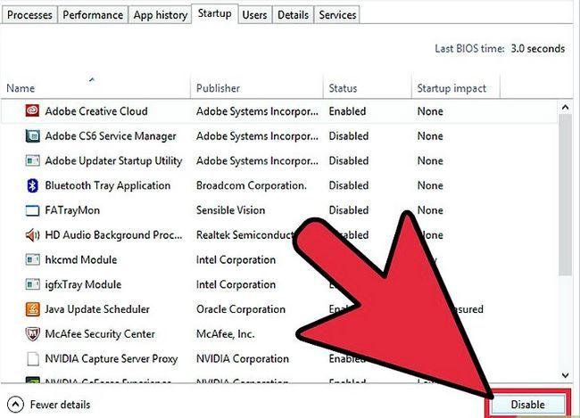 Prent getiteld Aktiveer en deaktiveer opstartprogramme in Windows 8 Stap 4