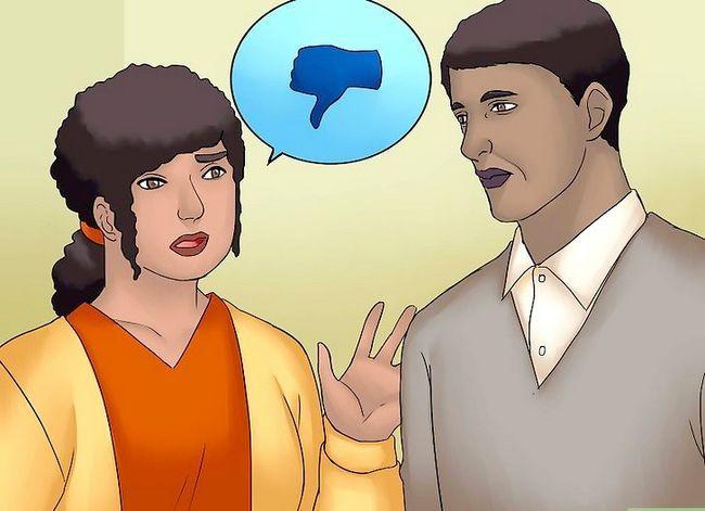 Prentjie getiteld Praat met jou gade oor die wens om Stap 6 te skuif