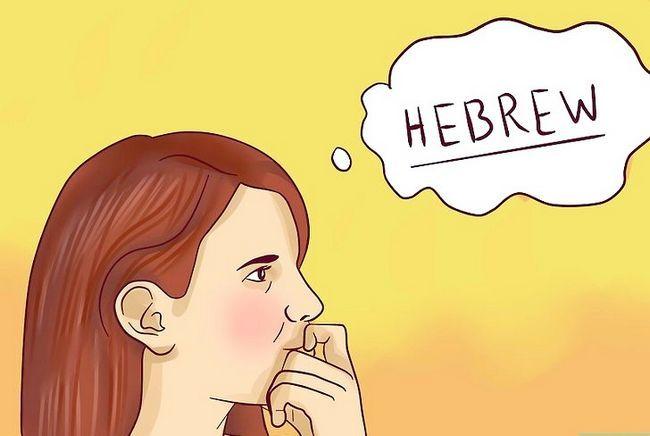 Prent getiteld Spreek Hebreeus Stap 9