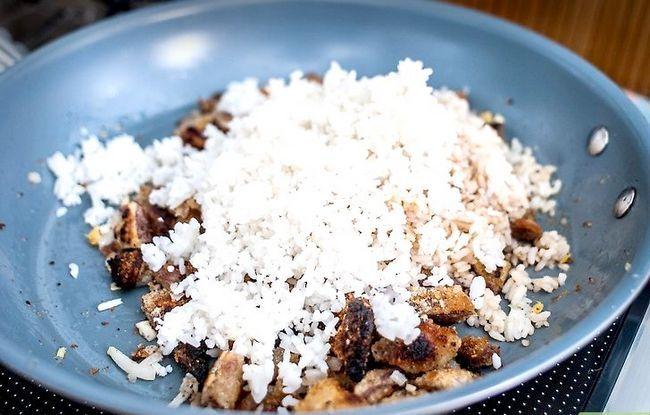 Prent getiteld Maak Fried Rice Stap 14