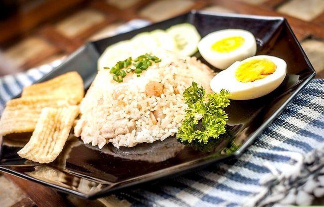 Prent getiteld Maak Fried Rice Stap 29