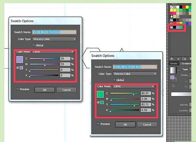 Prent getiteld Maak gradiënte in Adobe Illustrator Stap 4