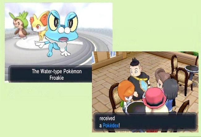 Prent getiteld Doen `n Wonderlocke Uitdaging in Pokémon X en Y Stap 2