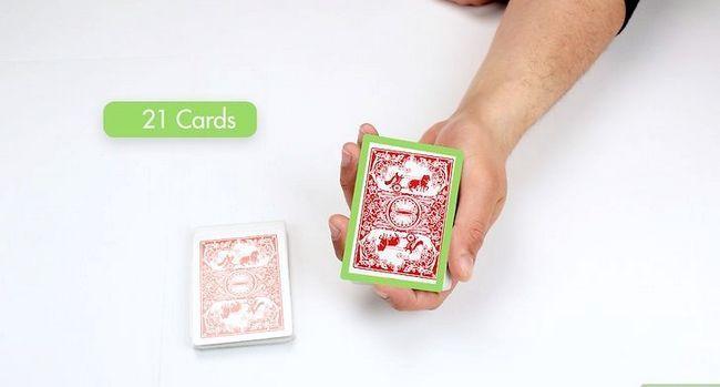 Prent getiteld Doen `n 21 kaartkaart truuk Stap 1