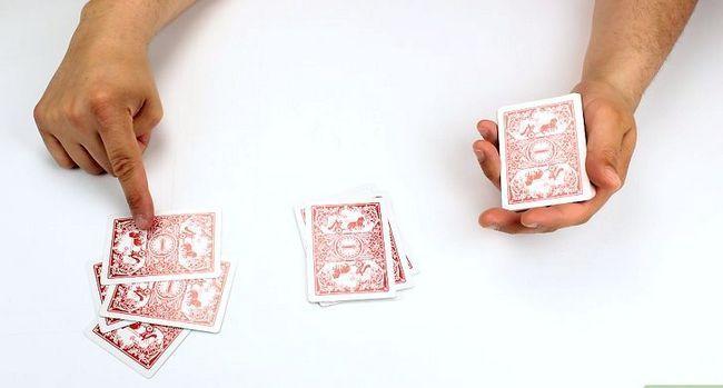 Prent getiteld Doen `n 21 kaartskaart Trick Stap 16