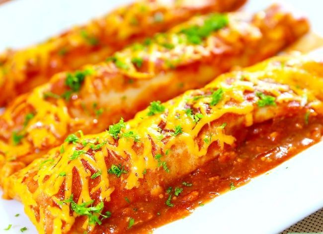 Prent getiteld Make Chicken Enchiladas Stap 19